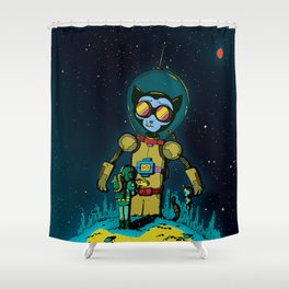 Giant Cats from Outer Space! Shower Curtain
