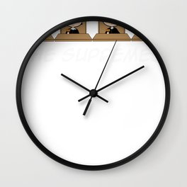 THE SUPREMES Supreme Court Justices cute Wall Clock