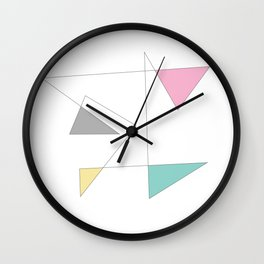 Pastel Triangles Wall Clock