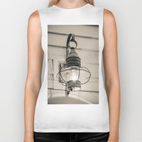 lantern Biker Tanks featuring Vintage Lantern by Redhedge Photos