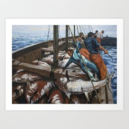 Fishing 3 Art Print