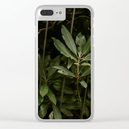 Nature finds a way Clear iPhone Case