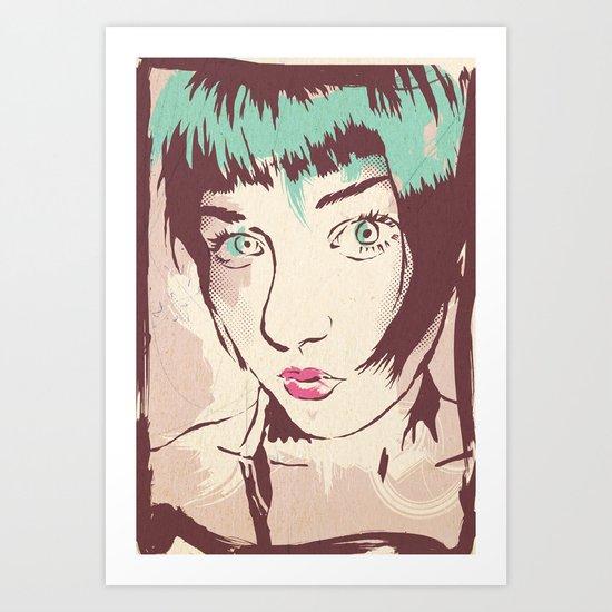 I don't look Away Art Print