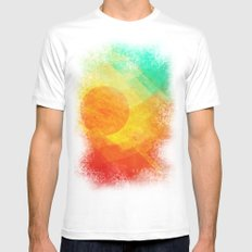 Dreamy Sunset White Mens Fitted Tee MEDIUM