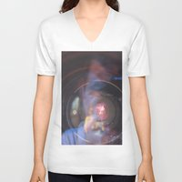 inception V-neck T-shirts featuring Camera Inception by Devon Pankiw