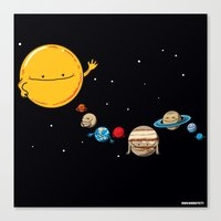 planets Canvas Prints featuring Planets by awkwardyeti