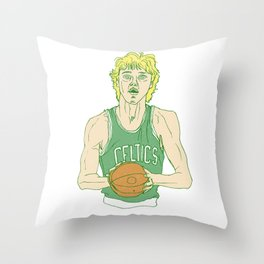Larry Legend Throw Pillow