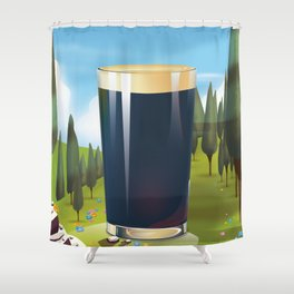 Beer In the Landscape, Shower Curtain