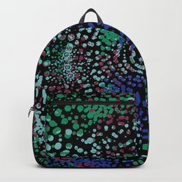 Abstract Mixed Media Series Spinning Sea Urchins 08 Backpack