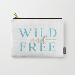 Wild and Free Turquoise Rose Gold Carry-All Pouch