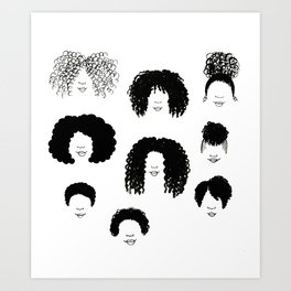 Hair Styles Art Print