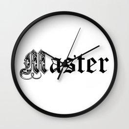 Master. Bdsm bondage submissive Wall Clock