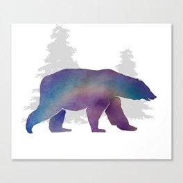 Snow Bear - Technicolour Safari, Polar bear Canvas Print