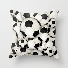 Dirty Balls - footballs Throw Pillow
