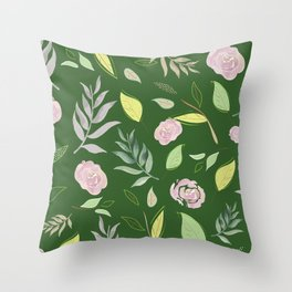 Simple and stylized flowers 9 Throw Pillow