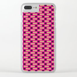 Brick (Pink, Brown, and Black) Clear iPhone Case