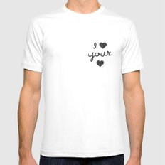 i heart your heart White Mens Fitted Tee MEDIUM