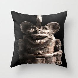 Zapotec Bat Figure Throw Pillow