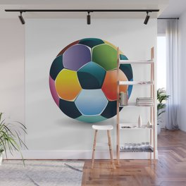 Colorful Soccer Ball Wall Mural