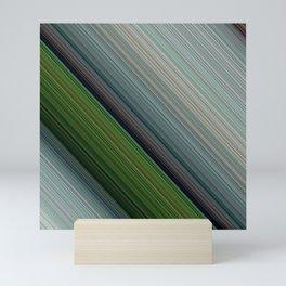 Decorative Colorful Green Blue Lines Design Mini Art Print