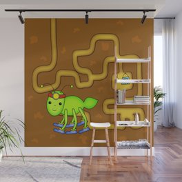 Kawaii Ant Tunneling Home  Wall Mural