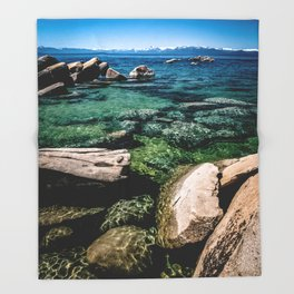 Refractions on the Rocks Throw Blanket