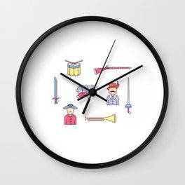 Happy Confederacy Heroes Day Wall Clock