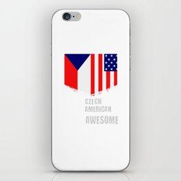 50% Czech 50% American 100% Awesome iPhone Skin