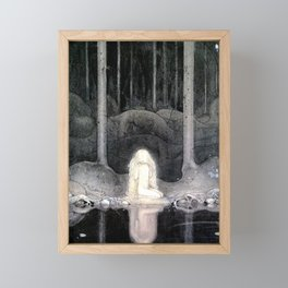 She is Looking For Her Heart By John Bauer Framed Mini Art Print