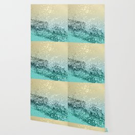 Lemon Twist Beach Glitter #2 #shiny #decor #art #society6 Wallpaper