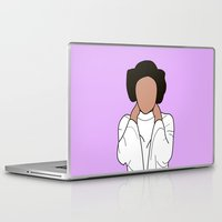princess leia Laptop & iPad Skins featuring Princess Leia by Blancamccord