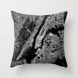 New York map Throw Pillow