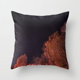 Firey woods Throw Pillow
