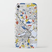 boston map iPhone & iPod Cases featuring Boston mondrian map by Mondrian Maps