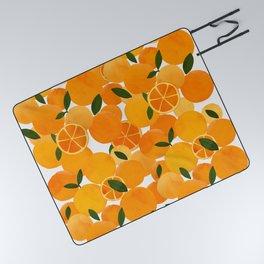 mediterranean oranges still life  Picnic Blanket