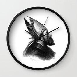 Man in a hat 2 Wall Clock