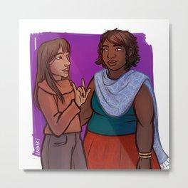 Amara & Cilla Metal Print