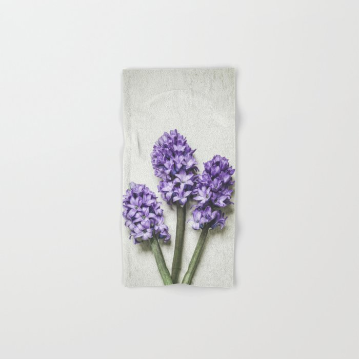 Three Lilac Hyacinth Hand & Bath Towel