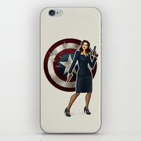 agent carter iPhone & iPod Skins featuring Agent Carter by Tera Sidebottom