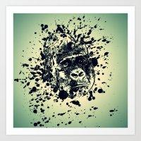 monkey Art Prints featuring Monkey by WonderfulDreamPicture