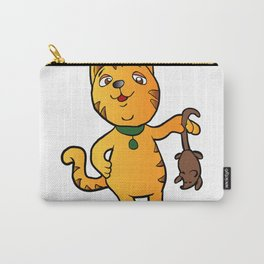 cartoon cat with mouse Carry-All Pouch