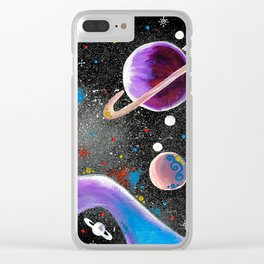 """""""Planetary"""" Clear iPhone Case"""