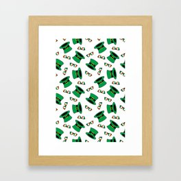 St. Paddy's Day top hat and shades Framed Art Print