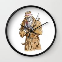 rorschach Wall Clocks featuring Rorschach by Of Newts and Nerds