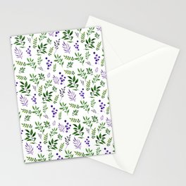 Emerald dream/Green leaves pattern Stationery Cards
