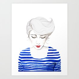 Wow, Stripes! Art Print
