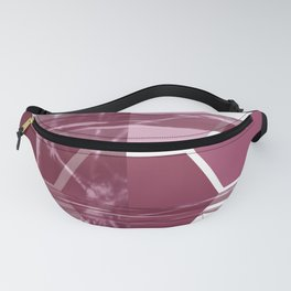 Burgundy Geometric Fanny Pack