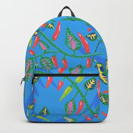 Red and green chilis Backpack