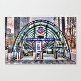 Canary Wharf Tube Station Canvas Print