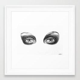 Galliano Eyes Framed Art Print